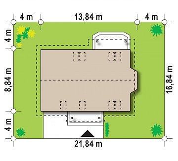 Версия проекта Z178 с дополнительной комнатой на первом этаже. план помещений 1