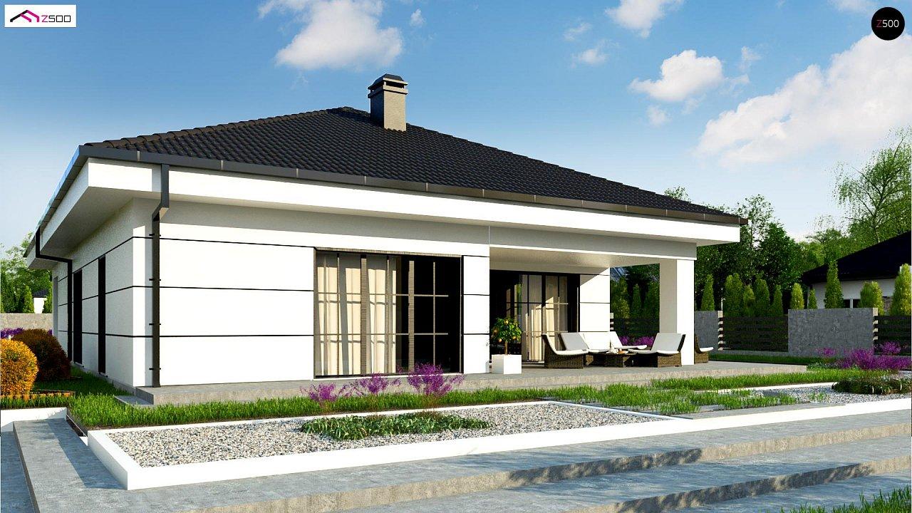 Современный одноэтажный дом с тремя спальнями и гаражом на одну позицию. - фото 4
