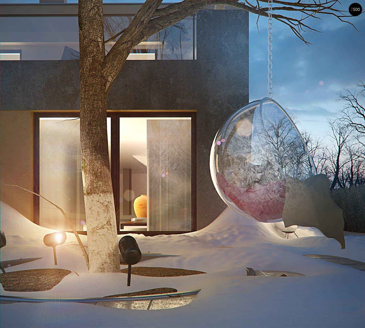 Дом характерного современного дизайна с гаражом и кабинетом на первом этаже. - фото 17