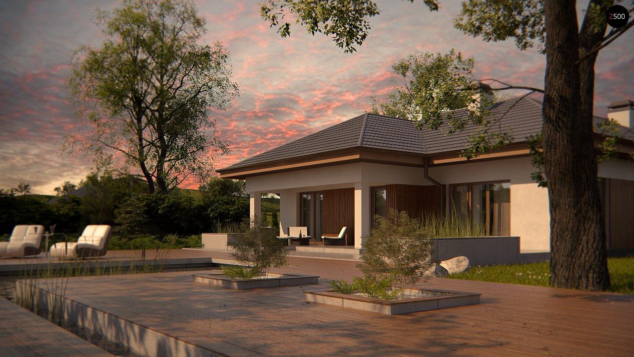 Одноэтажный дом с многоскатной крышей, с удобным функциональным интерьером. 8