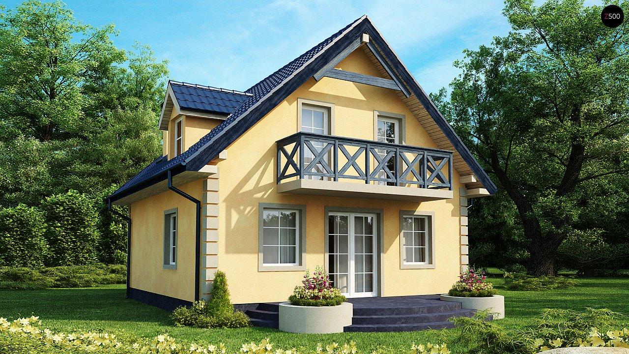 Очаровательный и практичный дом с мансардой в традиционном стиле. 1