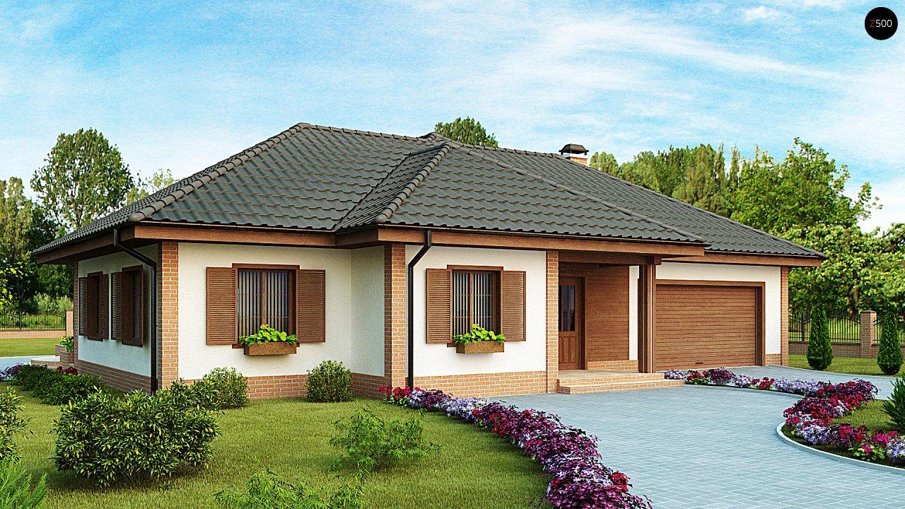 Просторный комфортный одноэтажный дом с гаражом для двух машин. - фото 1