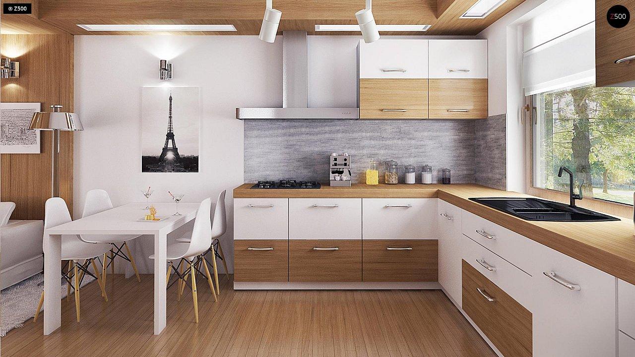 Экономичный в реализации одноэтажный дом с просторной гостиной и двумя спальнями. 7