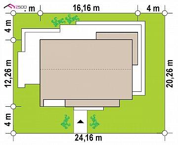 Одноэтажный дом с дополнительным пространством на чердаке план помещений 1