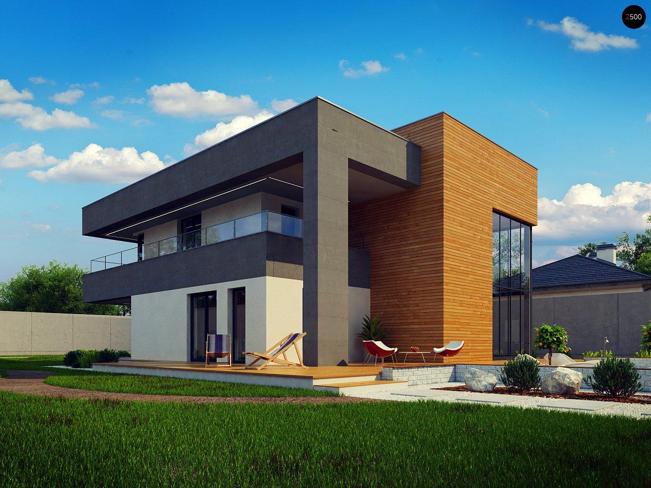 Современный двухэтажный дом с большой площадью остекления. - фото 13