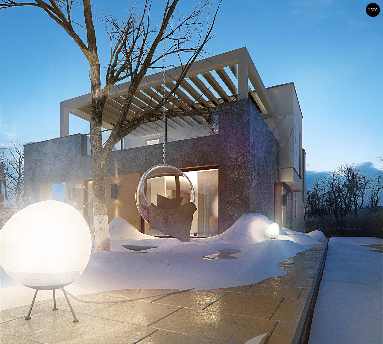 Дом характерного современного дизайна с гаражом и кабинетом на первом этаже. - фото 5