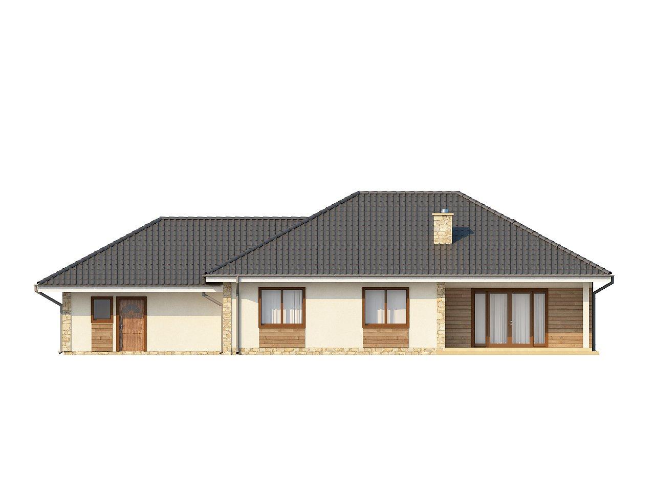 Просторный одноэтажный дом с тремя спальнями и большим гаражом. 14