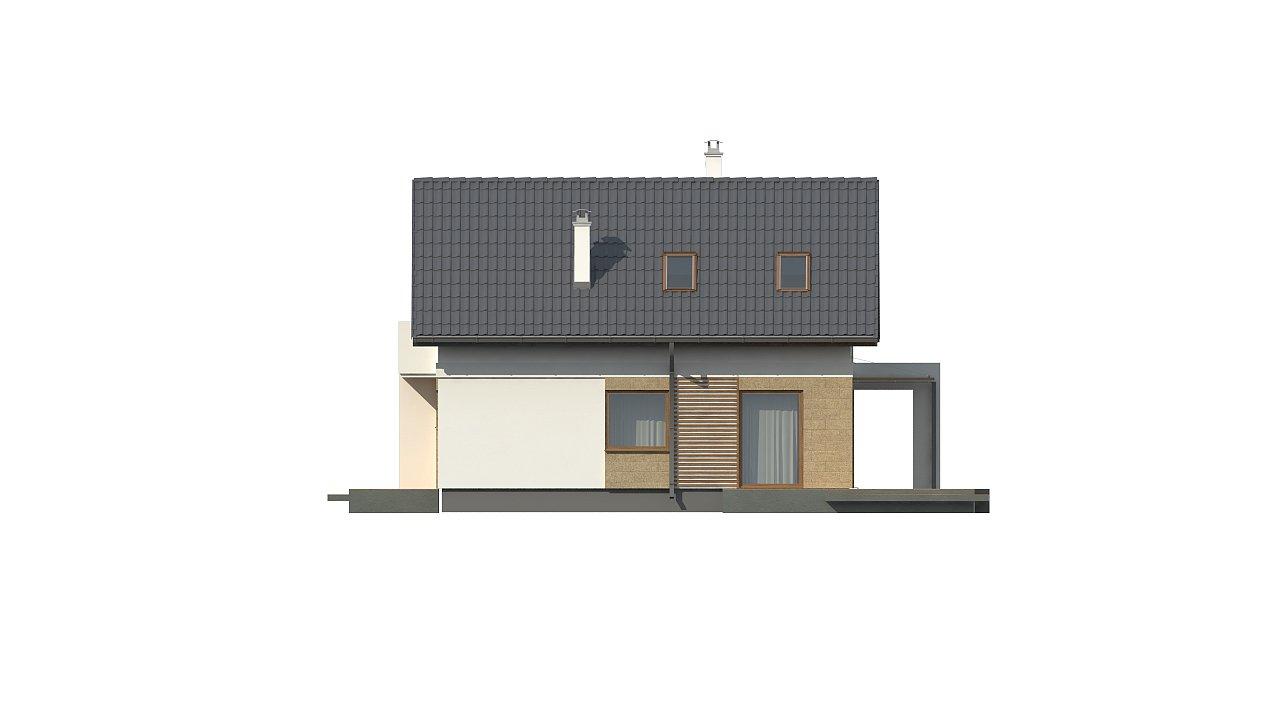 Версия дома Z177 с гаражом, пристроенным с левой стороны. 12