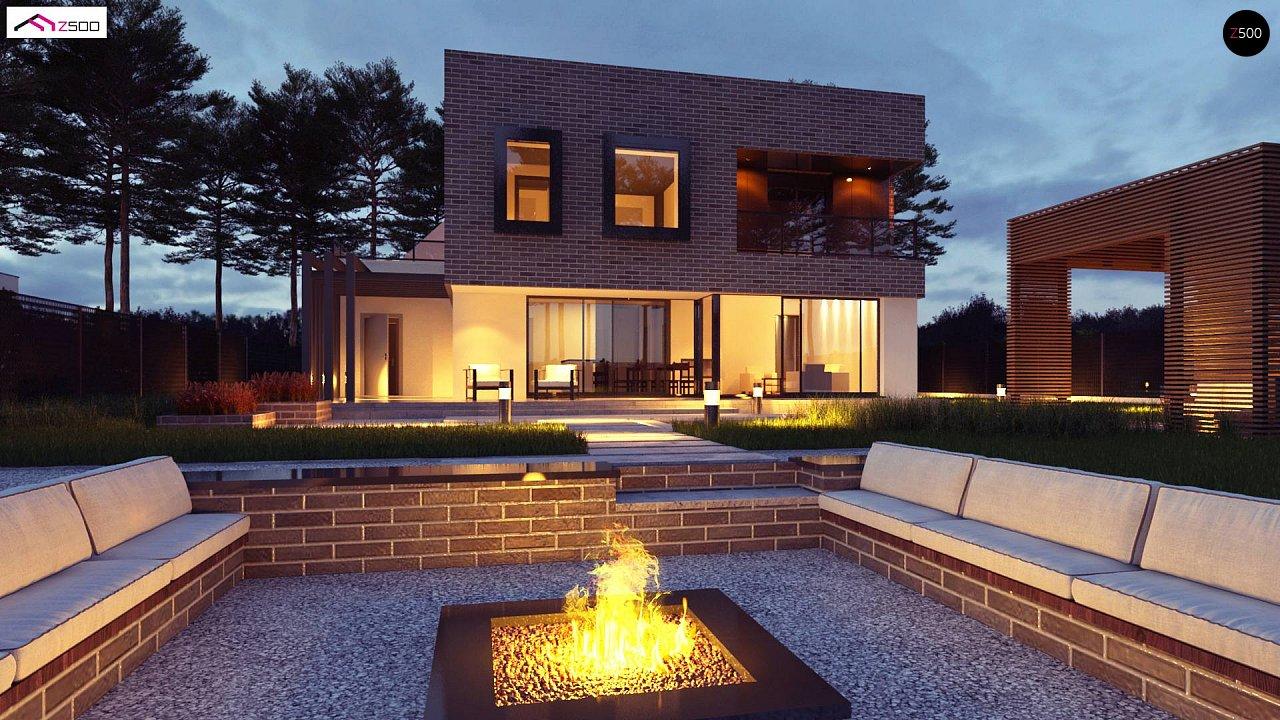 Проект двухэтажного дома с современным фасадом и удобным интерьером. 4