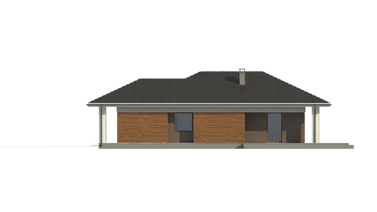 Одноэтажный дом в традиционном стиле с просторной гостиной - фото 9