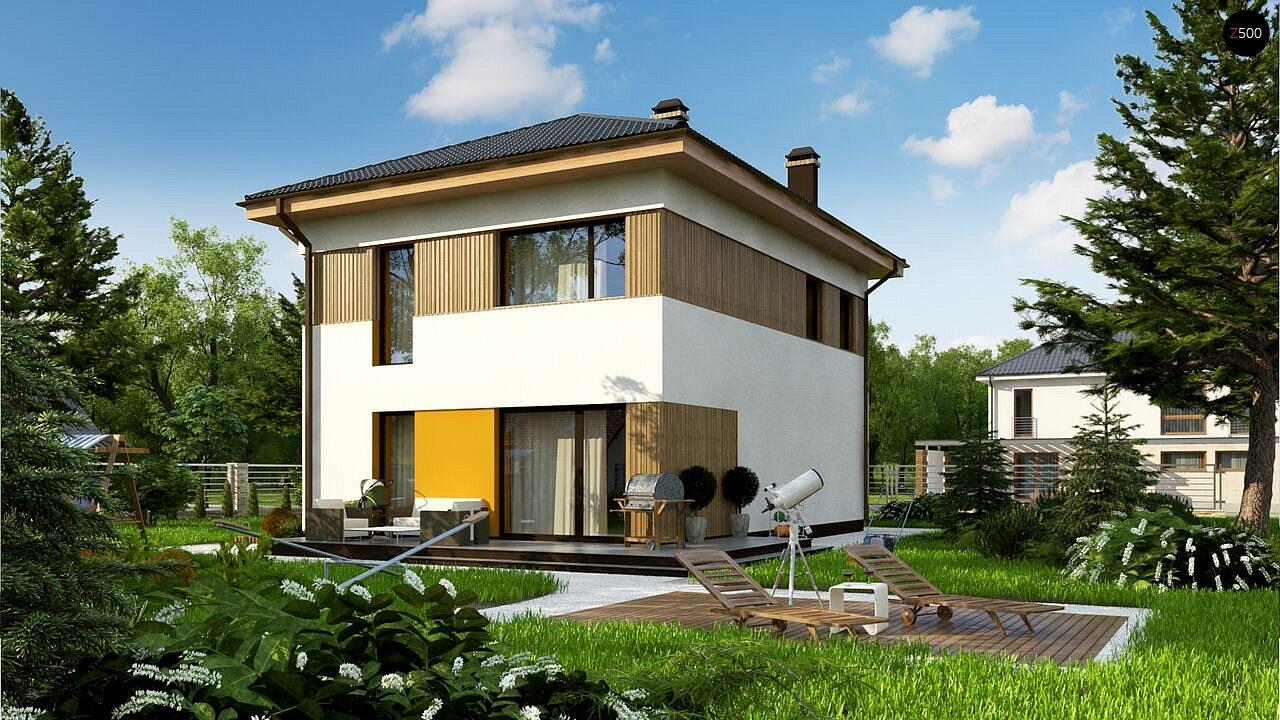 Компактный проект двухэтажного дома 2