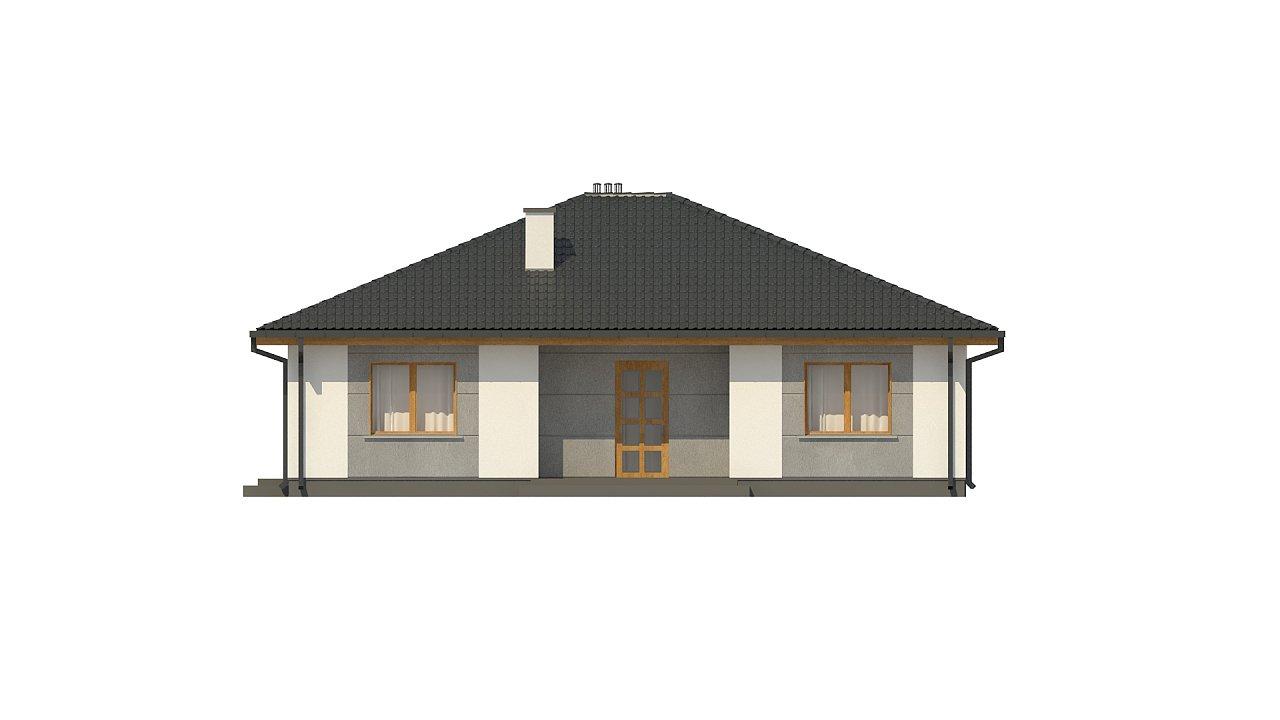 Одноэтажный коттедж с четырьмя спальнями - фото 22