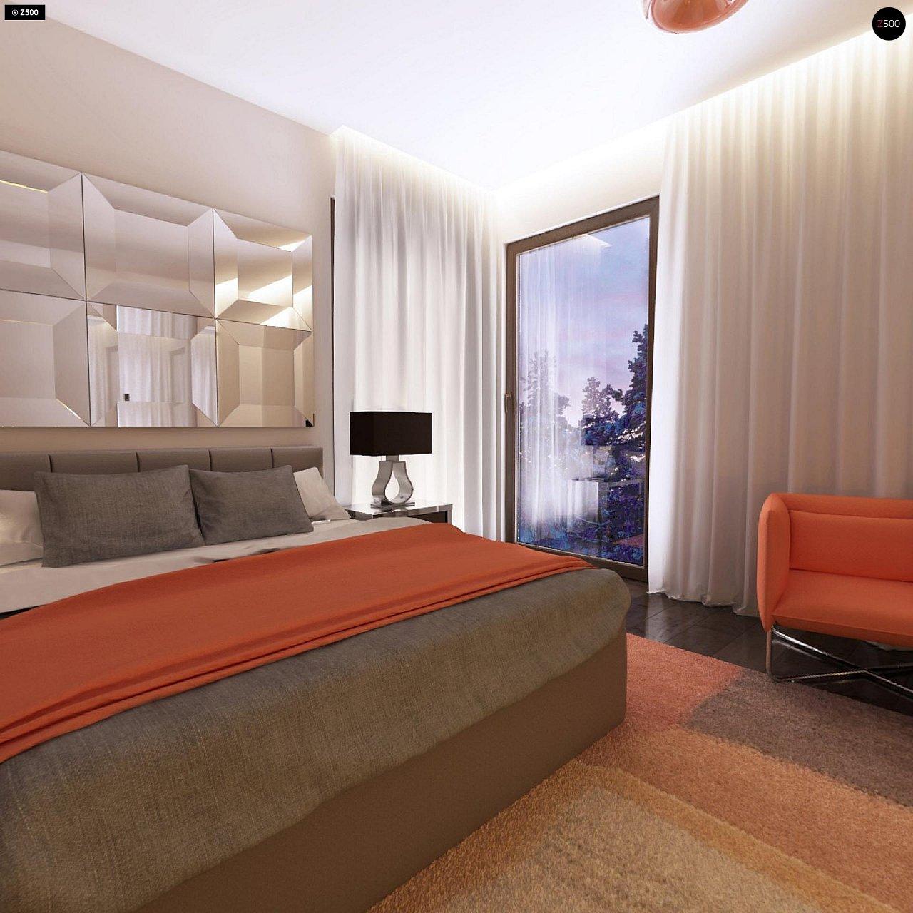 Дом характерного современного дизайна с гаражом и кабинетом на первом этаже. - фото 31