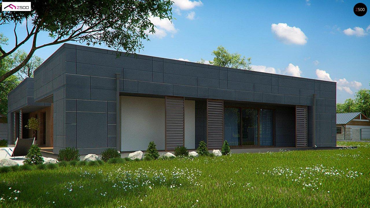 Современный односемейный одноэтажный дом с плоской крышей - фото 7