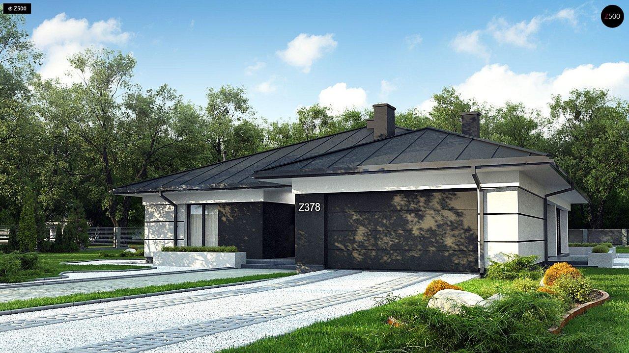Проект одноэтажного дома с гаражом на две машины - фото 2