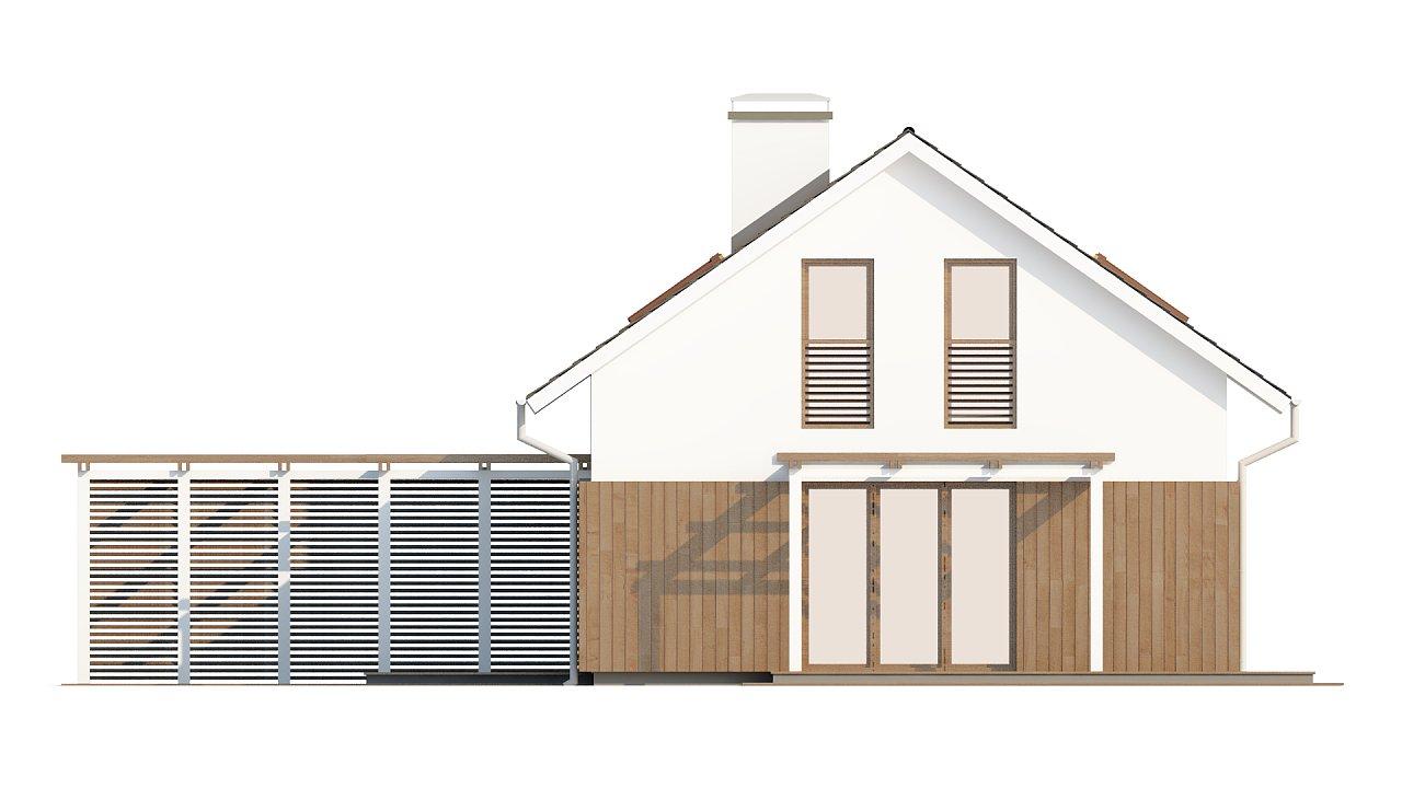 Проект дома в традиционном стиле с двускатной крышей. 6