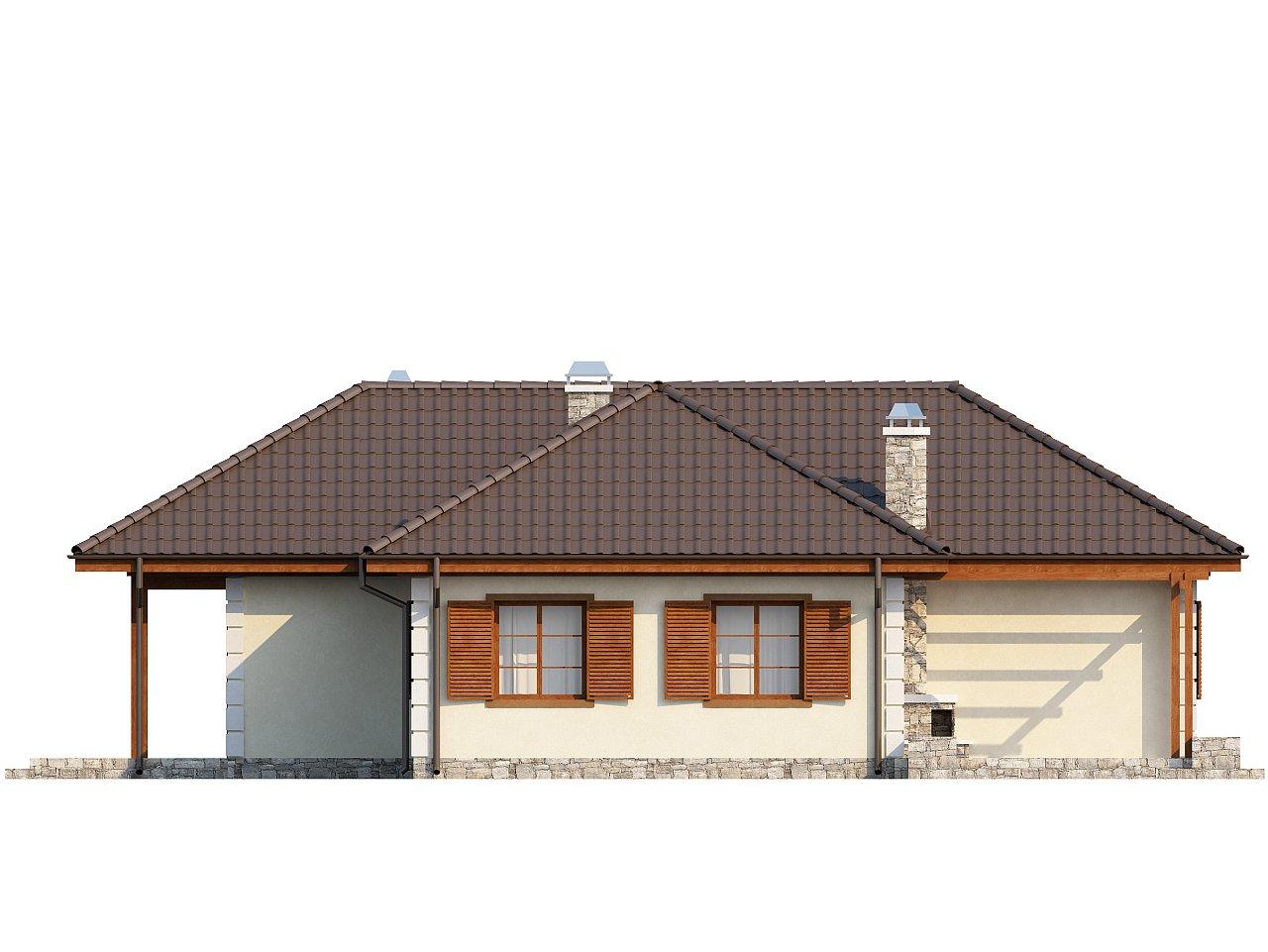 Добротный практичный одноэтажный дом с возможностью обустройства мансарды. - фото 6