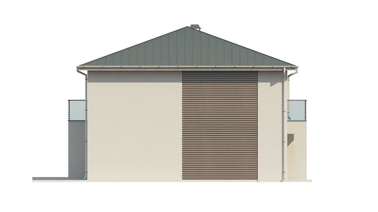 Просторный и комфортный двухэтажный дом с большими окнами. 11
