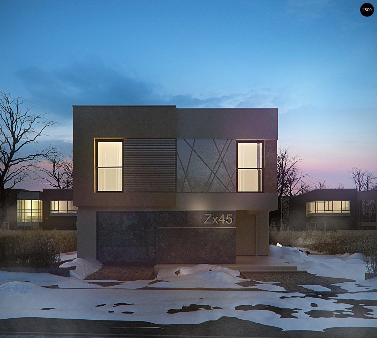Дом характерного современного дизайна с гаражом и кабинетом на первом этаже. - фото 8