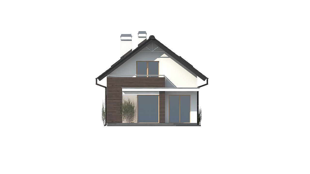Функциональный аккуратный дом с мансардой, также для узкого участка. 17