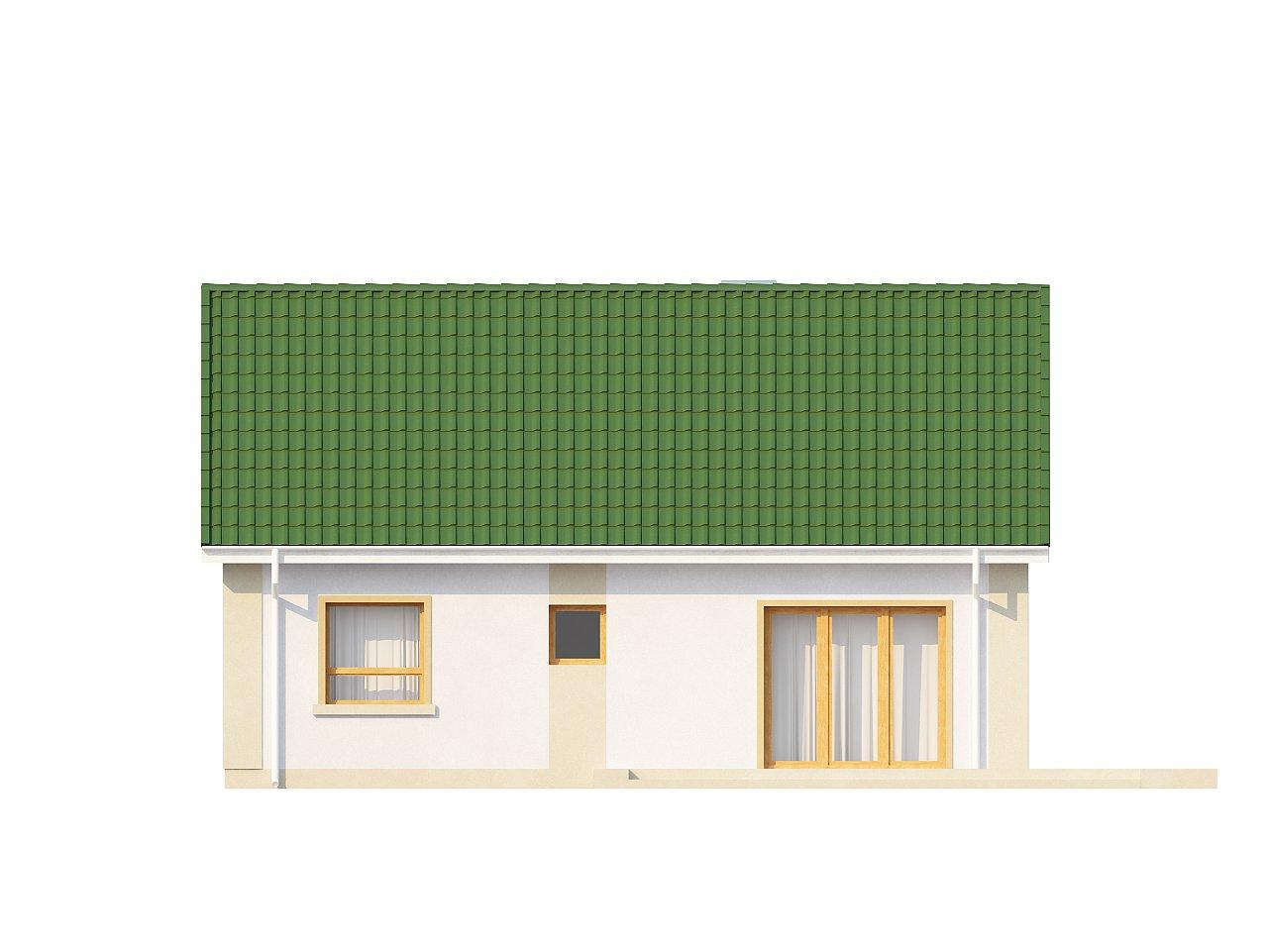 Простой в реализации дом с двускатной крышей, с возможностью обустройства мансарды. 16