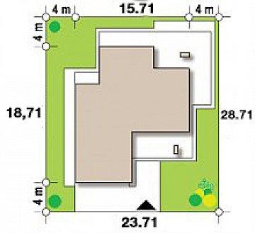 Современный двухэтажный дом с большой площадью остекления. план помещений 1