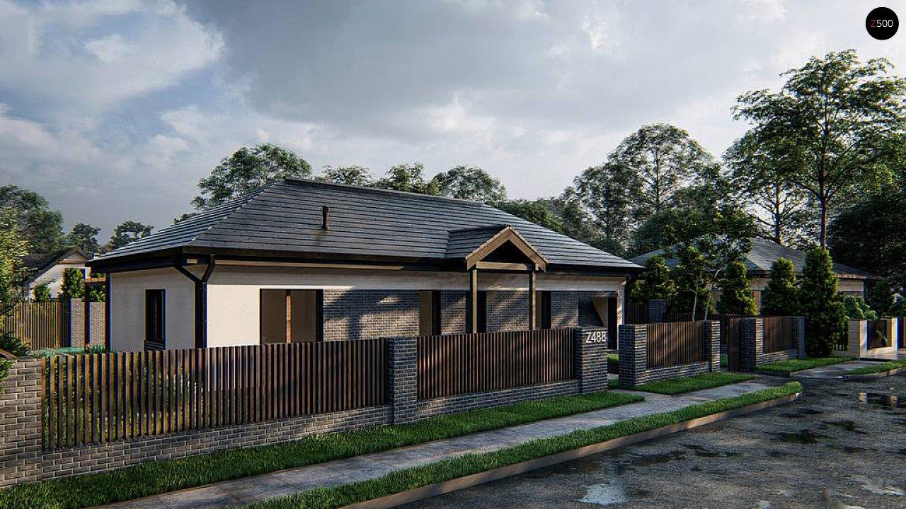 Одноэтажный дом на 3 комнаты, гостиная со столовой и гараж на одну машину 2