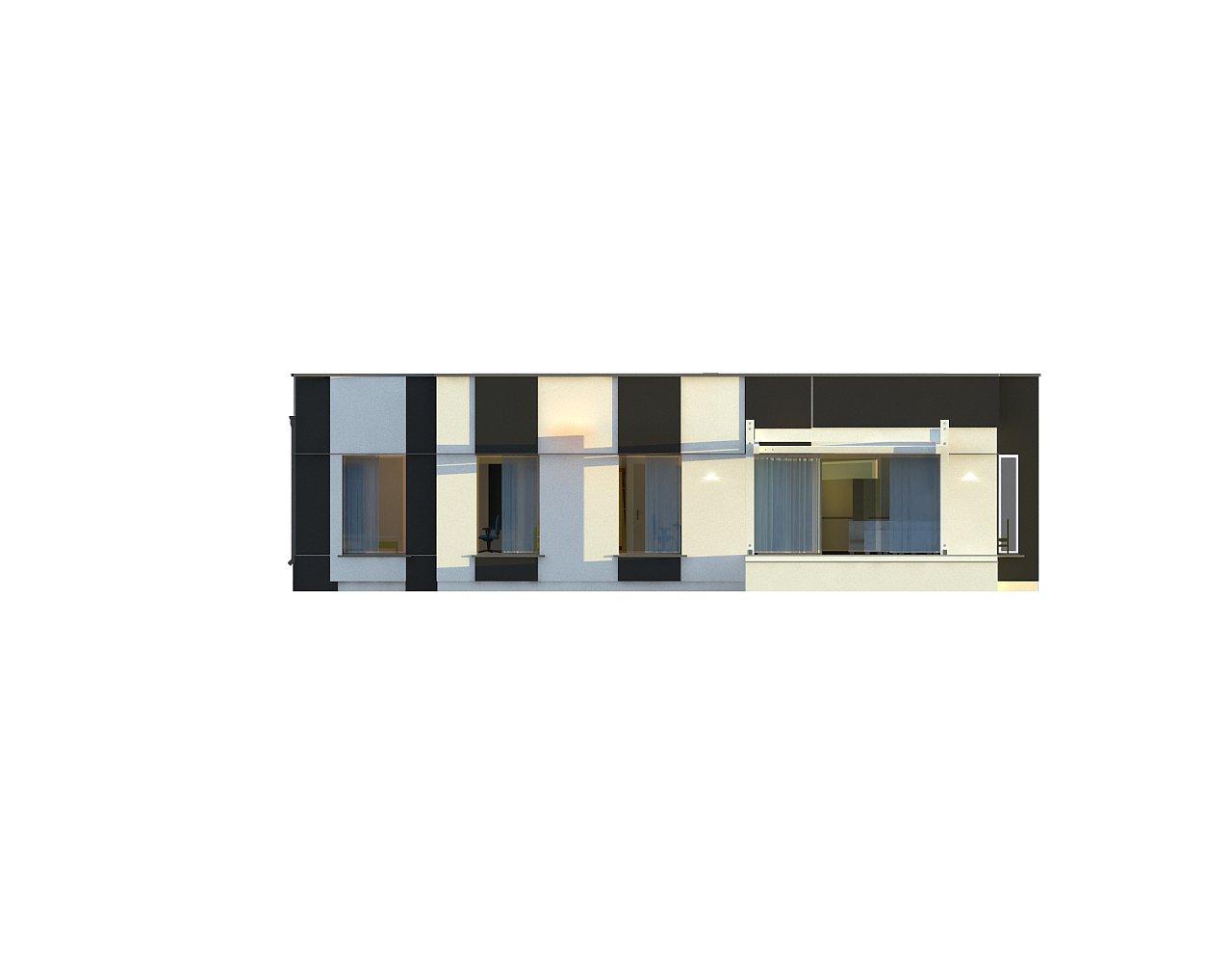 Одноэтажный комфортный дом в стиле хай-тек. 26