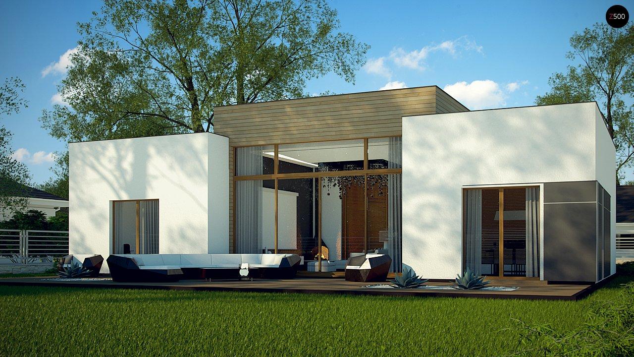Одноэтажный дом в стиле современного минимализма 1