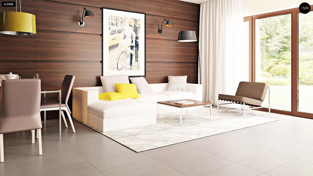 Компактные дома близнецы в современном стиле с уютным интерьером. 3