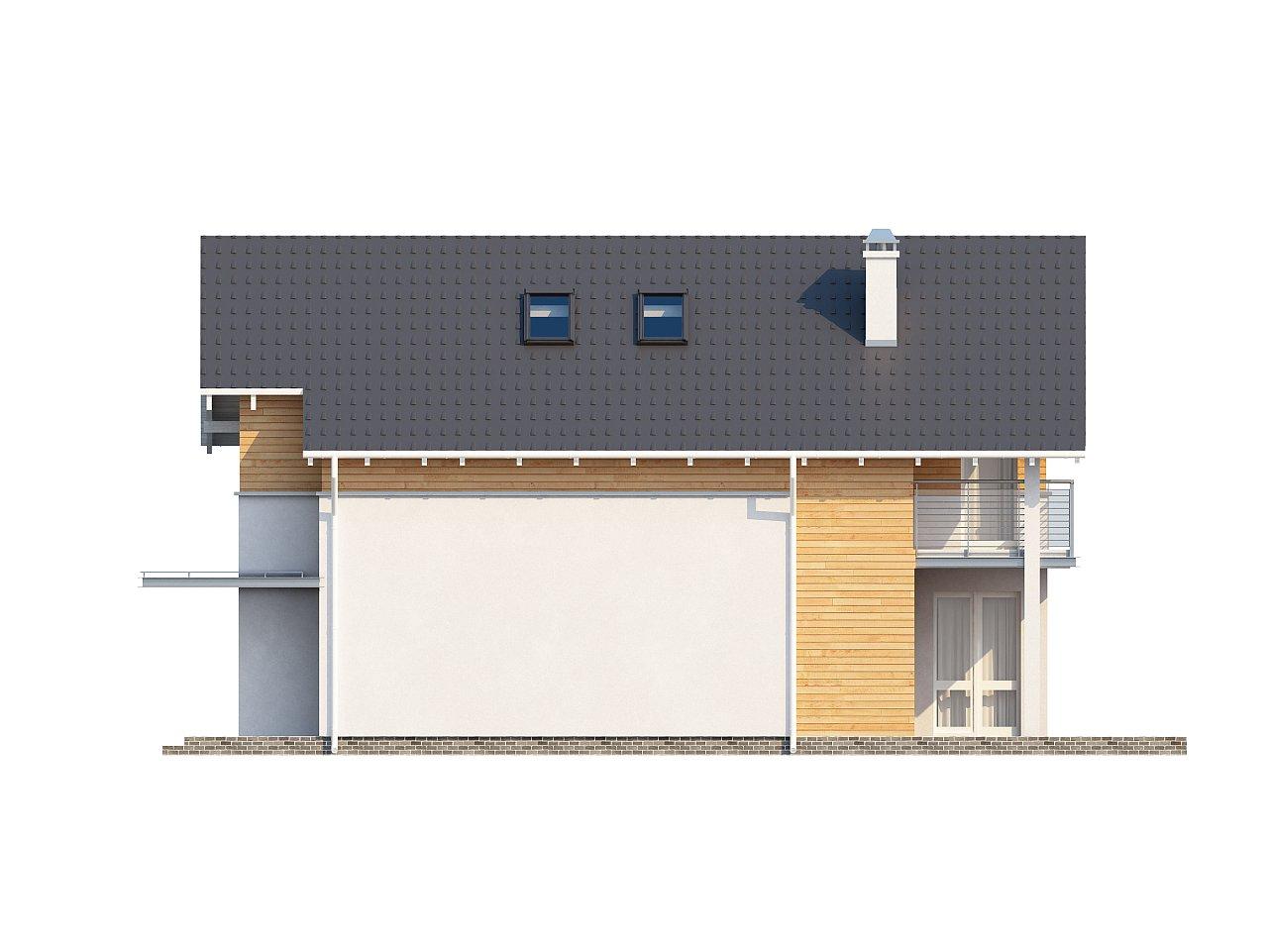 Энергоэффективный и удобный дом с современными элементами отделки фасадов. Подходит для узкого участка. - фото 6