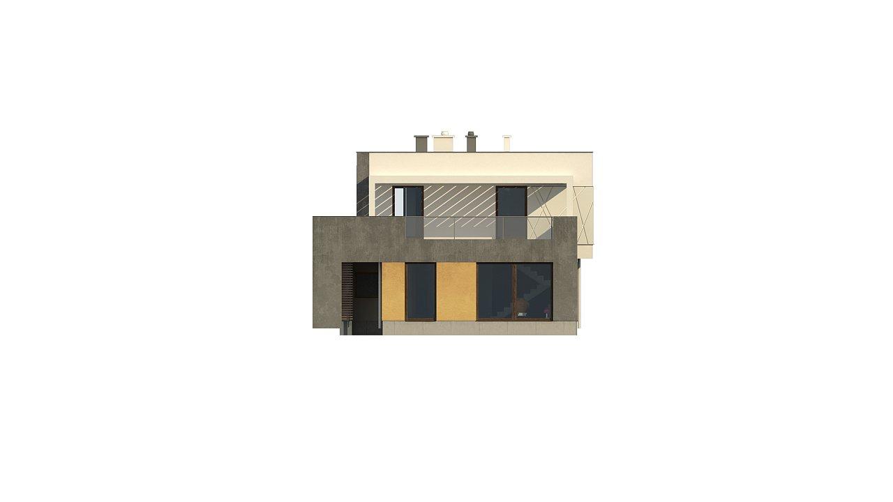 Дом характерного современного дизайна с гаражом и кабинетом на первом этаже. - фото 42
