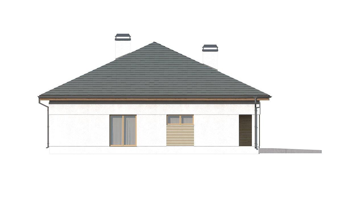 Проект просторного дома с многоскатной крышей. 7