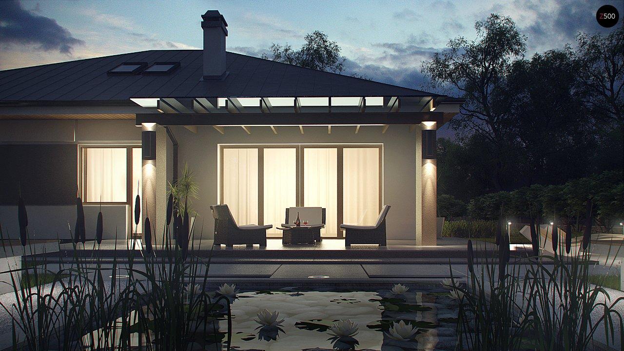 Комфортный элегантный дом с тремя спальнями и выступающим фронтальным гаражом. 3