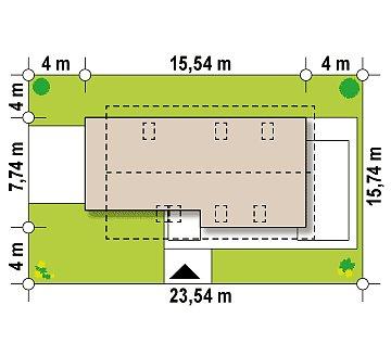 Практичный и уютный дом, идеально подходящий для вытянутого участка. план помещений 1