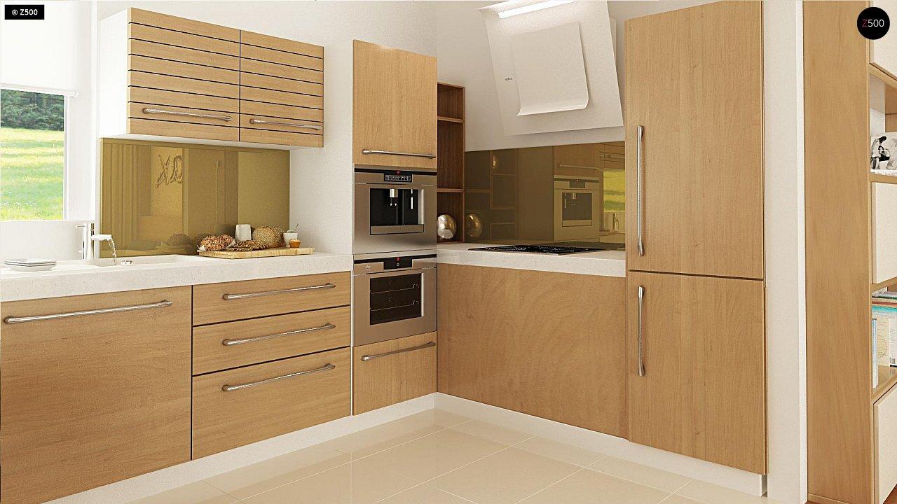 Выгодный компактный одноэтажный дом с угловым окном в кухне. 7