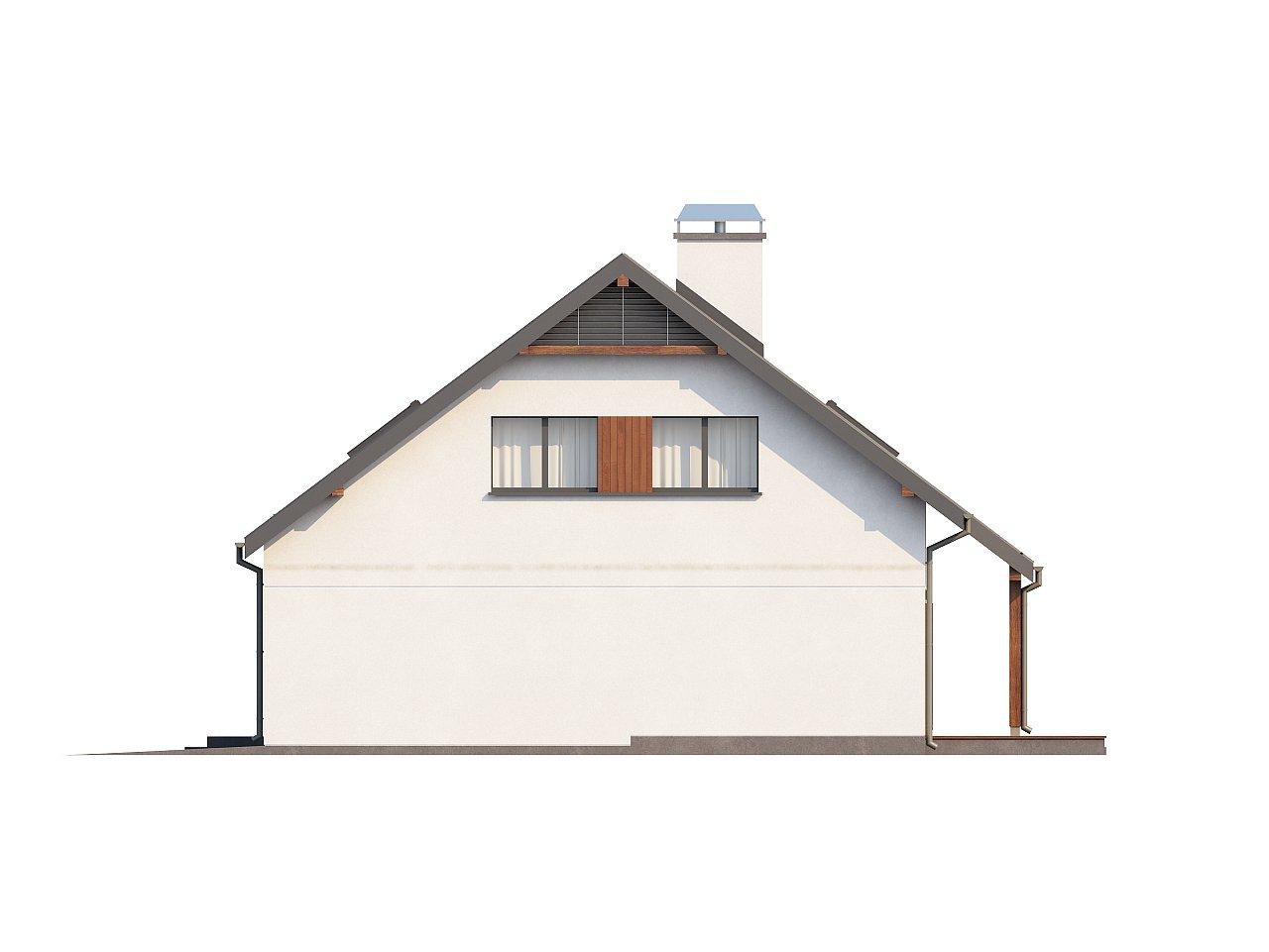 Практичный дом с мансардой, гаражом, кабинетом на первом этаже и стильным эркером. 6