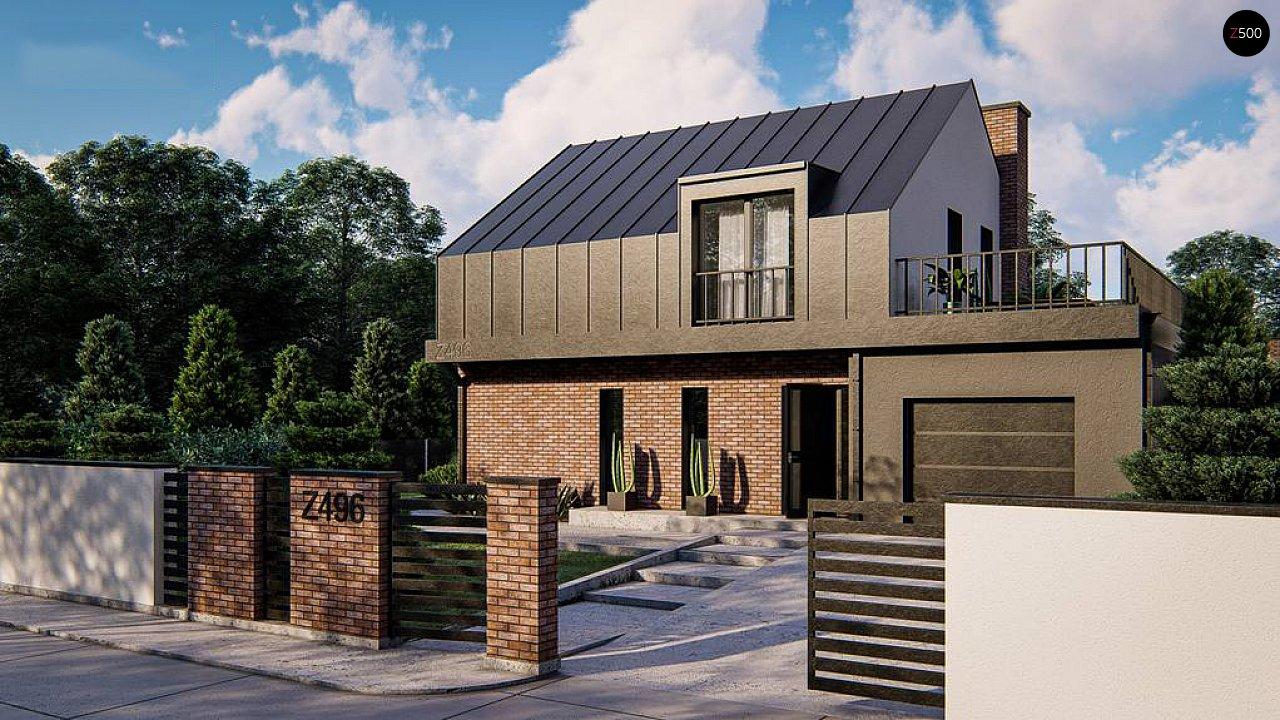 Дом с мансардой, гаражом и большой террасой 1