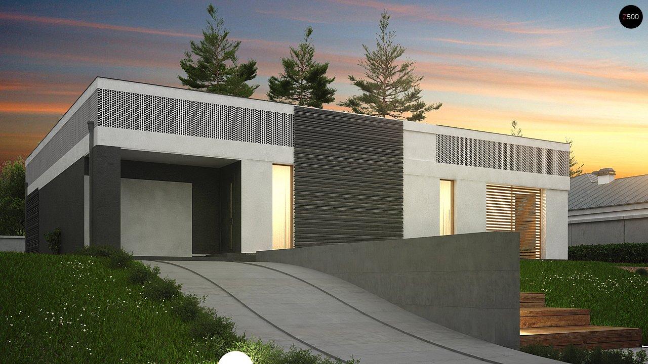 Проект дома в современном стиле с закрытой террасой - фото 11