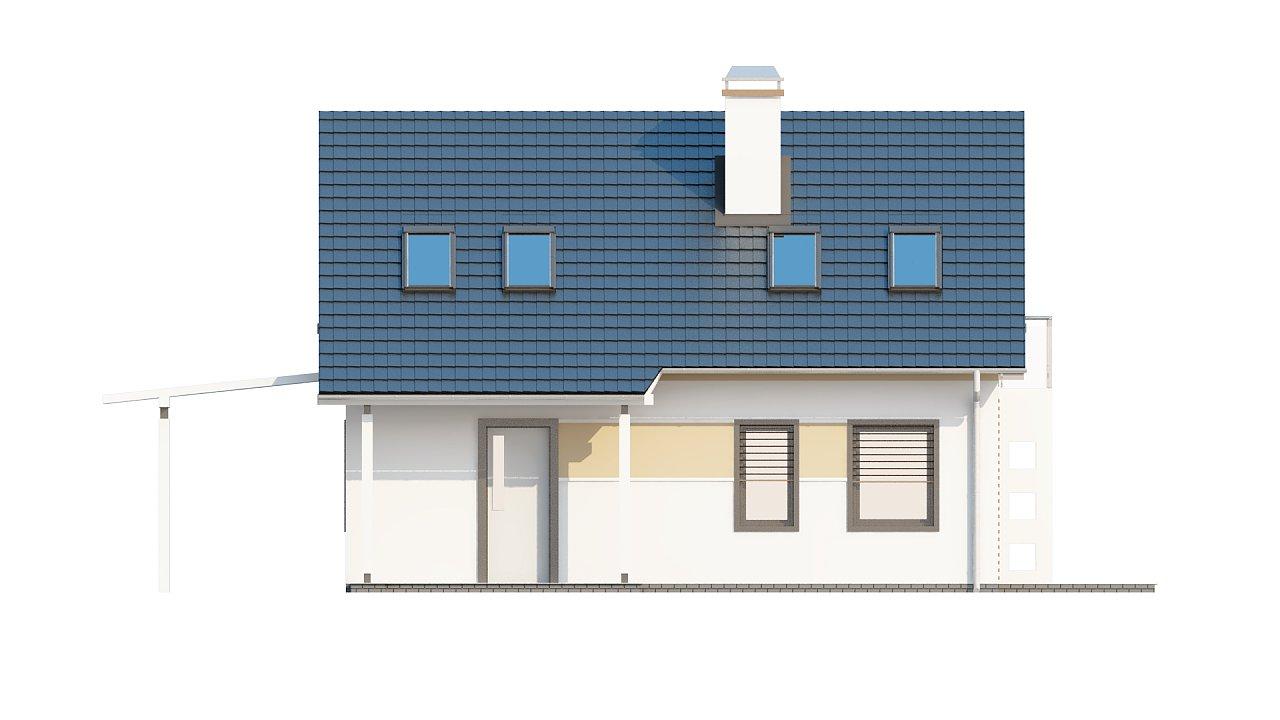 Экономичный в строительстве и реализации дом с удобной планировкой, с навесом для автомобиля. - фото 22