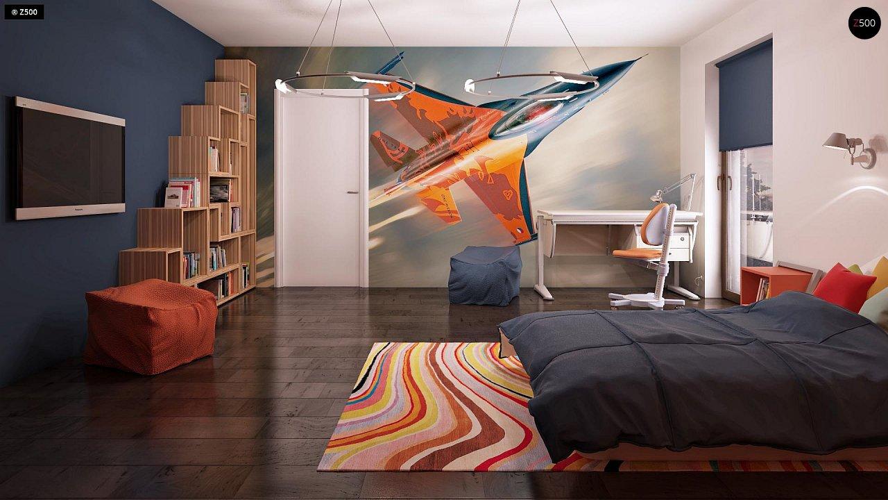 Дом характерного современного дизайна с гаражом и кабинетом на первом этаже. - фото 38