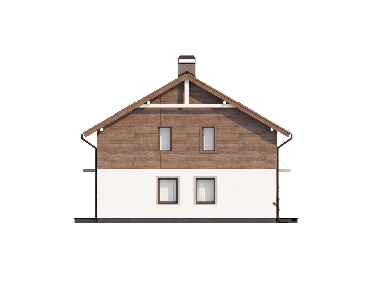 Проект двухэтажного дома с большой площадью остекления. 6