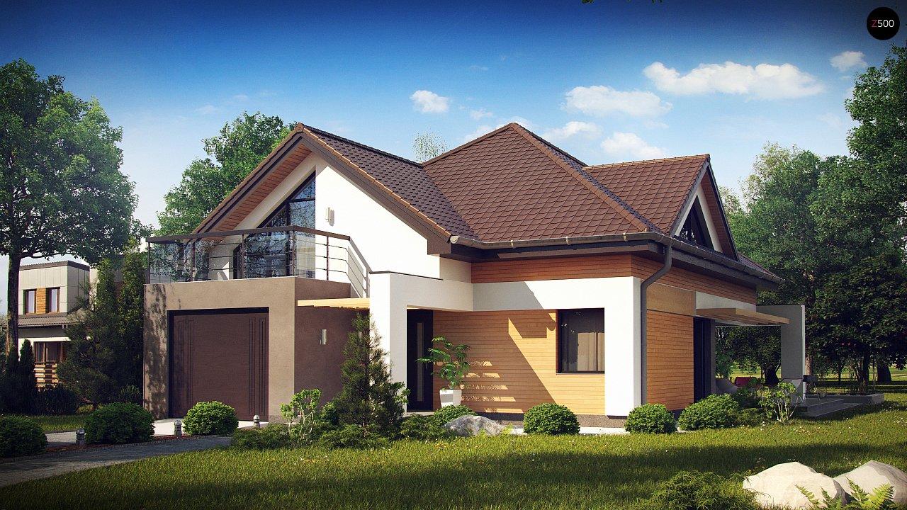 Необычные мансардные окна, фронтальный гараж и современные фасады выделяют этот проект среди остальных. 1