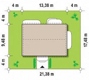 Одна из версий проекта компактного двухэтажного дома zx11 план помещений 1