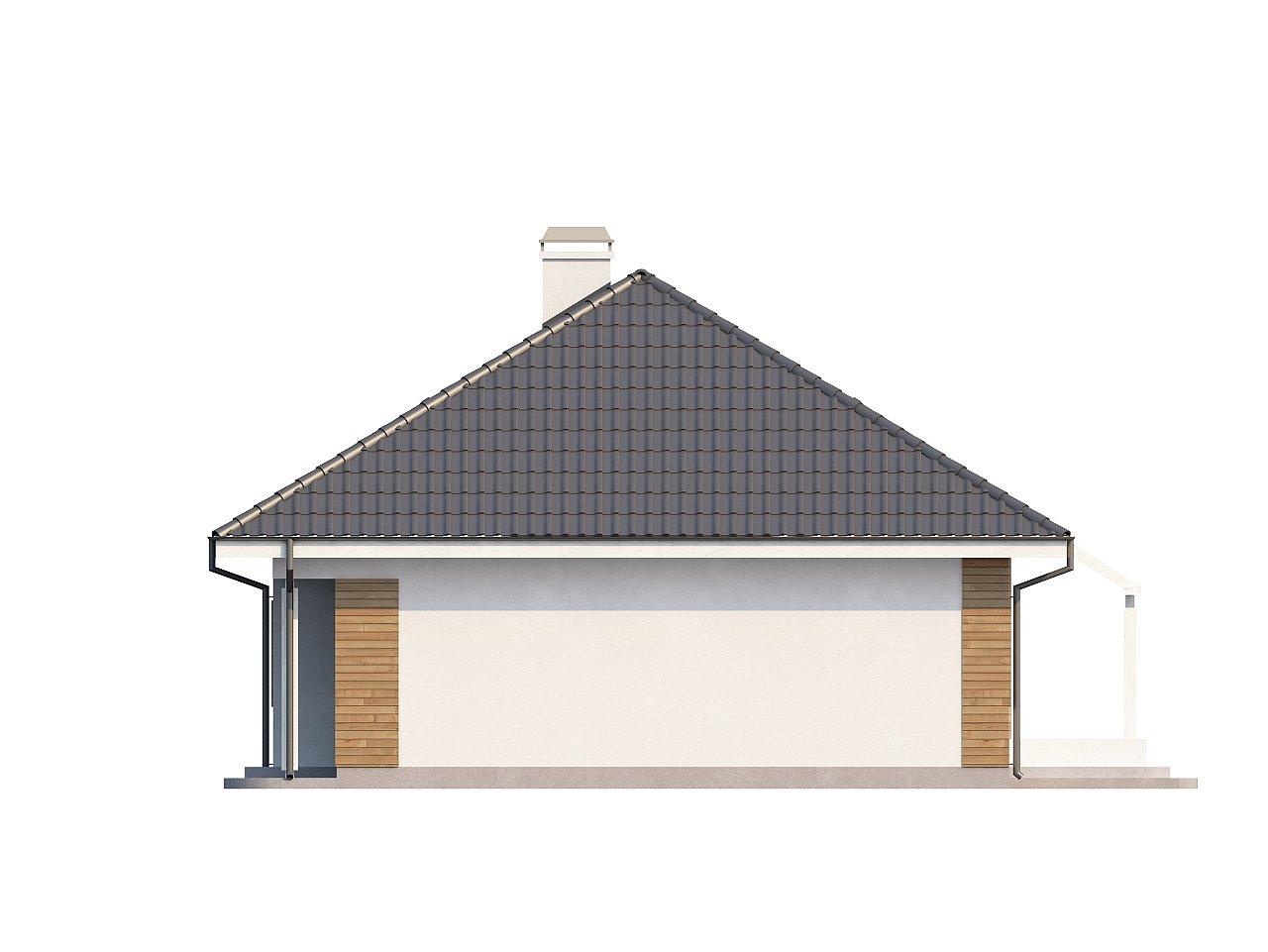 Проект функционального дома с дополнительной небольшой ночной зоной на первом этаже. - фото 6