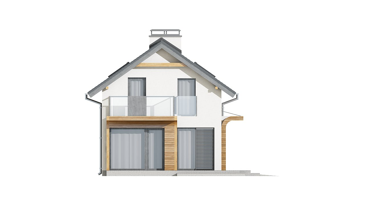 Практичный и уютный дом с оригинальным оформлением фасадов, идеальный для неглубокого участка. - фото 5