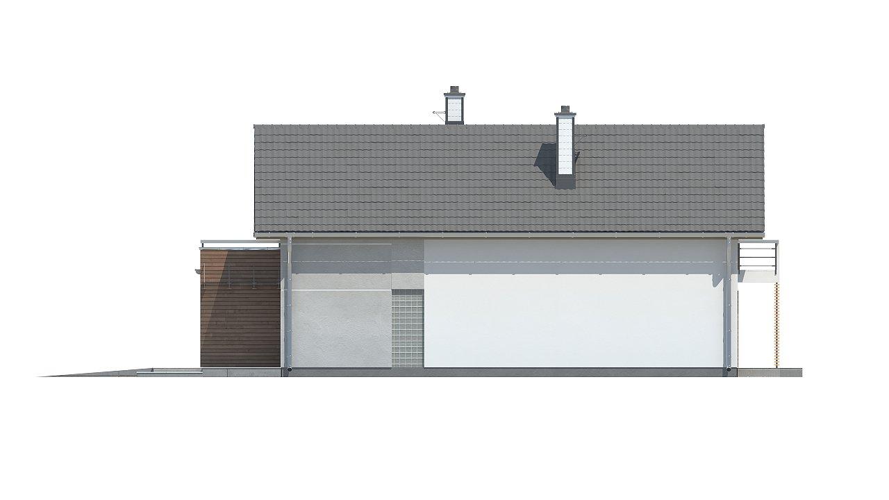 Функциональный и привлекательный дом с гаражом для узкого участка. 20