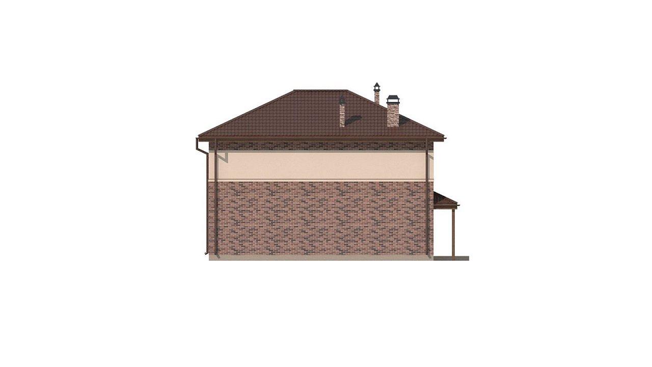 Двухэтажный дом традиционного дизайна 25