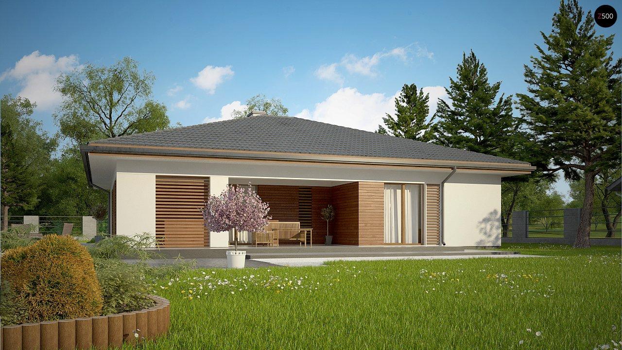 Стильный одноэтажный дом с комфортной крытой террасой 8