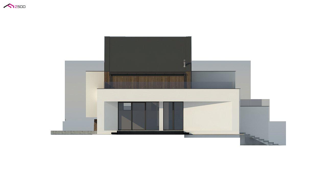 Проект современного коттеджа с цоколем и мансардой 8